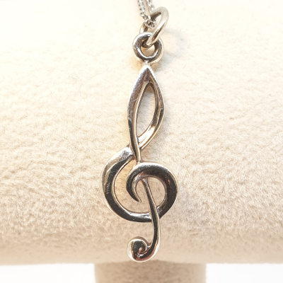Sterling Silver Music Note Pendant