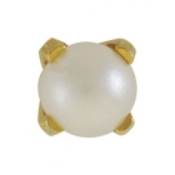 Studex 9ct Yellow Gold Tiffany 4mm White Pearl Ear Piercing