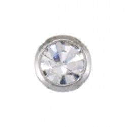 Studex 9ct White Gold Bezel 3mm April Crystal Ear Piercing