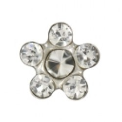 Studex 9ct White Gold 6 Stone Daisy Crystal Ear Piercing