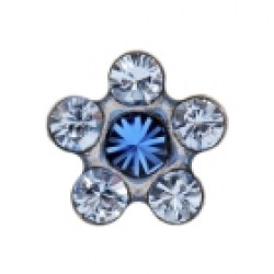 Studex Stainless 6 Stone Daisy Sapphire Light Sapphire Ear Piercing