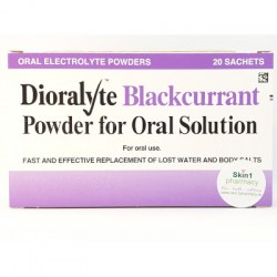 Dioralyte Blackcurrant Powder For Oral Solution 20 Sachets
