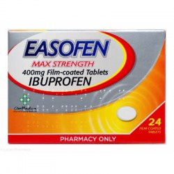 Easofen Ibuprofen 400mg Max Strength Tablets  24 Tablets