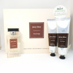 Jenny Glow Wood & Sage Body Lotion, Fragrance & Shower Gel Gift Set