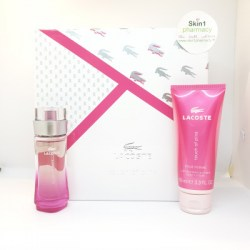 Lacoste Touch Of Pink For Her Gift Set EDT 30ml with Body Lotion 100ml