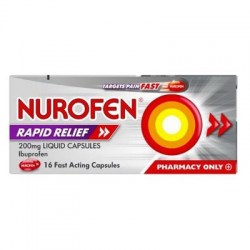 Nurofen Rapid Relief 200mg Fast Acting 16 Capsules