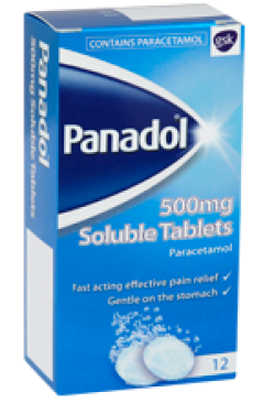 PANADOL 500mg SOLUBLE TABLETS 12