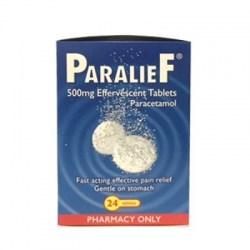 Paralief 500mg Effervescent 24 Tablets