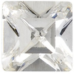 STUDEX Stainless Steel 6mm Crystal Square EARRINGS