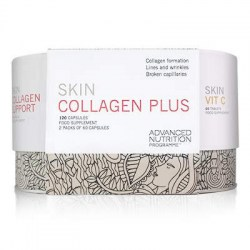 Skin Collagen Plus Includes 1 pot of Skin Collagen Support (60 Capsules) and 1 pack of Skin Vit C (60 Capsules).