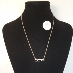 Kilkenny Sterling Silver Rose Gold Plated Loop Necklace