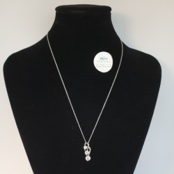 Kilkenny Sterling Silver Pendant with 3 Cubic Zirconia Stones