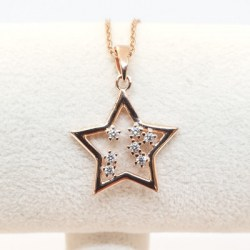 Kilkenny Silver Rose Gold Plated Sterling Silver Pendant with Cubic Zirconia