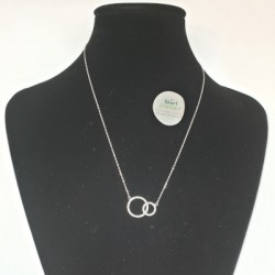 Kilkenny sterling silver Loops pendant with clear coloured cubic zirconia stones.
